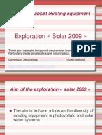 English Exploration Solar 2009