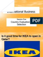 Session 5 - Country Evaluation & Selection - Spring 2011