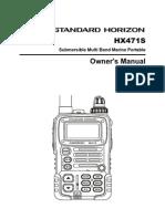 Standard Horizon HX471S