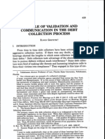 THE ROLE OF VALIDATION AND COMMUNICATION IN THE DEBT COLLECTION PROCESS ELWIN GRIFFITH
