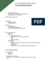 SAP ECC6 Certi Prep Notes