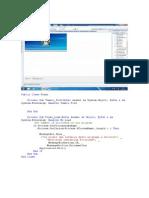 código fonte da aplicação
