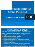 DOS CRIMES CONTRA A PAZ PÚBLICA