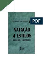 LIVRO Natação 4 estilos - oswaldo nakamura