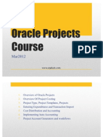 Oracle Projects Course Mar2012