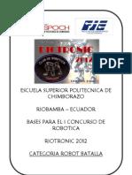 Reglamento Batalla Riotronic2012
