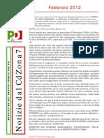 Newsletter di FEBBRAIO 2012 del Gruppo Consiliare PD di Zona 7-Milano