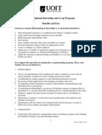UOIT Internship-Benefits and Costs