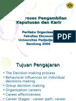 14.Proses Pengambilan Keputusan Dan Karir