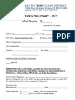 Park Reservation Permit