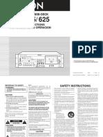 Manual Denon Dn-t625