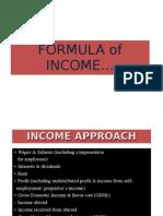 Formula of Income