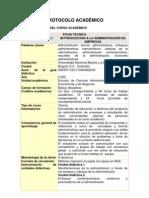 PROTOCOLO Introduccion a La Admin is Trac Ion de Empresas
