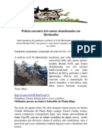 Polícia encontra três motos abandonadas em Queimadas