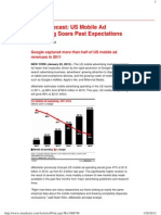 New FOrecast-US Mobile Ad Spends in 2012 Onwards