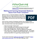 Canning Barbecue Sauce
