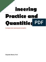 Engineering Practice and Quantities