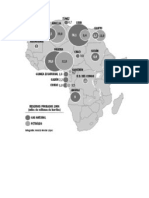 Mapa de Africa Petroleo