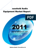 China Household Audio Equipment Market Report