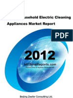 China Household Electric Cleaning Appliances Market Report