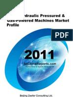 China Hydraulic Pressured Gas Powered Machines Market Report