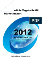China Inedible Vegetable Oil Market Report