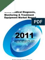 China Medical Diagnosis Monitoring Treatment Equipment Market Report