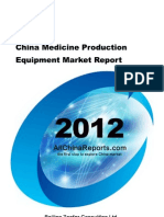China Medicine Production Equipment Market Report