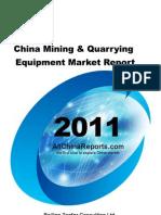 China Mining Quarrying Equipment Market Report