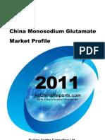 China Mono Sodium Glutamate Market Profile