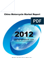 China Motorcycle Market Report