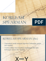 Korelasi Sederhana Spearman