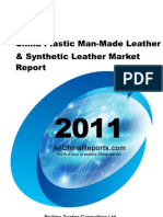 China Plastic Man Made Leather Synthetic Leather Market Report