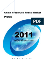 China Preserved Fruits Market Profile