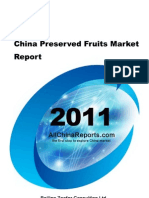 China Preserved Fruits Market Report