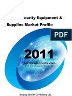 China Security Equipment Supplies Market Profile