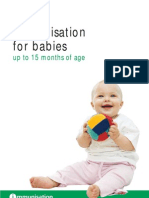Immunisation for Babies Up to 15 Months