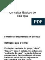 1ª AULA Conceitos Básicos de Ecologia