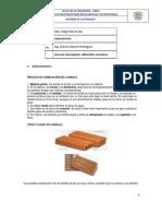 PRACTICA Nº 7, 8 y 9 EVALUACION DE UN PRODUCTO TERMINADO (LADRILLO)