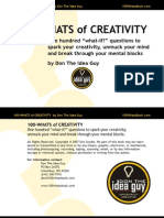 100-Whats of Creativity by Don The Idea Guy