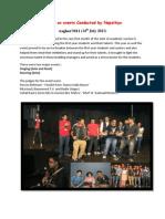 Report on Nepathya Events