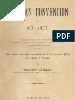 La gran convención de 1831-1833. Recopilación de las actas, sesiones, discursos etc., relativos a la Constitución de 1833