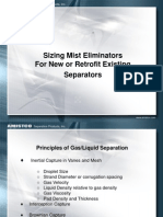 Sizing Mist Eliminators for New and Retrofit Existing Separators