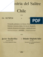 La Industria Del Salitre en Chile. 1908