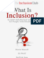 What is Inclusion - in sport and physical activity for people with disability