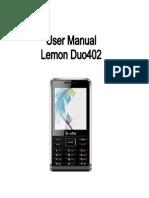 Lemon Duo 402 User Manual
