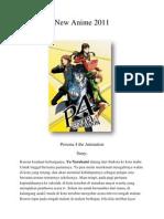 New Anime 2011