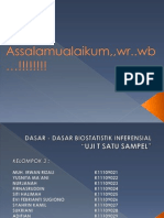 Uji t Satu Sampel-biostatistik Inferensial