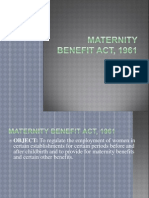 Maternity Benefit Act, 1961