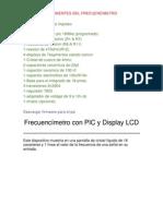 Lista de Componentes Del Frecuencimetro
